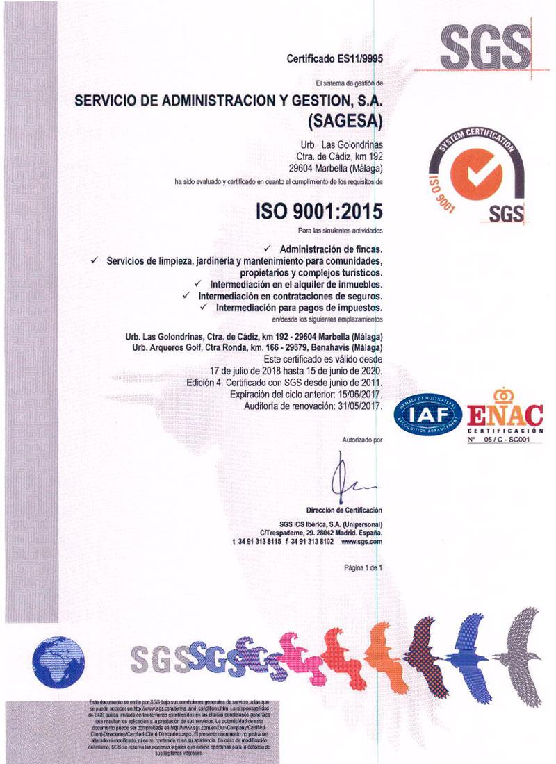 certificaso ISO